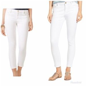 MICHAEL KORS | Izzy White Cropped Ankle Pants
